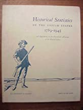Historical Statistics of the United States 1789-1945. A Supplement to the Statistical Abstract of the United States prepared by the Bureau of the Census with the cooperation of the Social Science Research Council.