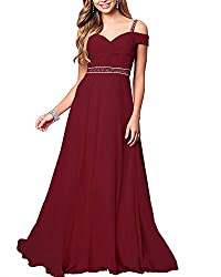 Wine Red Formal Bridesmaid Sleeveless Gown With Rhinestones