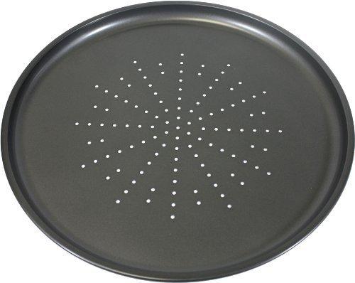 Prochef Non-Stick Large 32.5cm/12.5inch Carbon Steel Pizza Tray - Fridge, Freezer & Dishwasher Safe with 5 Year Guarantee - Black