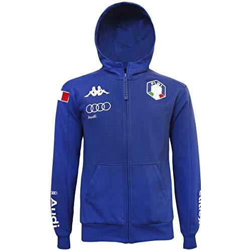 Kappa 6CENTO ARGUM 3F Fisi, Felpa Unisex Nazionale Italiana Sci 2019/2020 (M, Azzurro (Blue Princess))