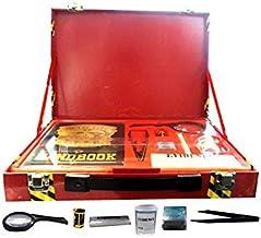 Crime Lab Detective Forensic Kit spy master Briefcase magnifying glass, Fingerprint pad