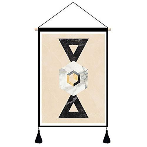 Abstrakte geometrische Hintergrund Wand Wohnzimmer Schlafzimmer Tapisserie Meter Box Baumwolle leinen Kunst malerei xxt-14 65 * 45 cm