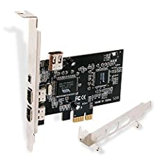 1. PCIE-1394A will allow users add 4X 1394A (3X 6Pin and 1X 4Pin) ports on Windows PCs or Servers for Video,Photo and more 1394A device data transfer. 2. Fully compatible with all 1394A interface device such as CD-RW,DVD-ROM Drive,DV camcorder, digit...