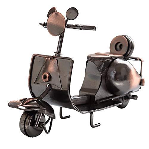 Ornamento de Escritorio Escultura de hierro de la motocicleta del modelo retro del metal de la artesanía de Colección de Arte de hierro for el lugar de trabajo del escritorio del hogar Decoración arte