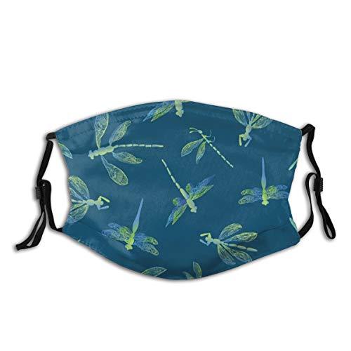 VTYOSQ Balacla Abstrakte Libelle mit Spitze Flügel und Bild mit Filter Staubschutz für Männer und Frauen