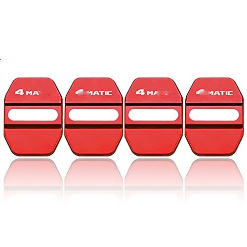 Cerradura de Puerta de Estilo de automóvil, Cubiertas Stiker Funda para Mercedes Benz Accesorios de automóviles 4MATIC,Rojo