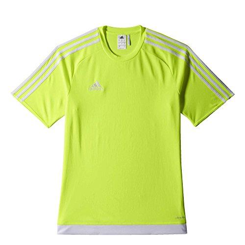 adidas Estro 15 JSY - Camiseta para hombre, color lima / blanco, talla 164