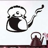 Wandaufkleber Steam Cafe Cafe Kettle Küche Restaurant Große Hohle Vinyl Aufkleber Wandkunst Aufkleber Wandaufkleber 44 * 32Cm