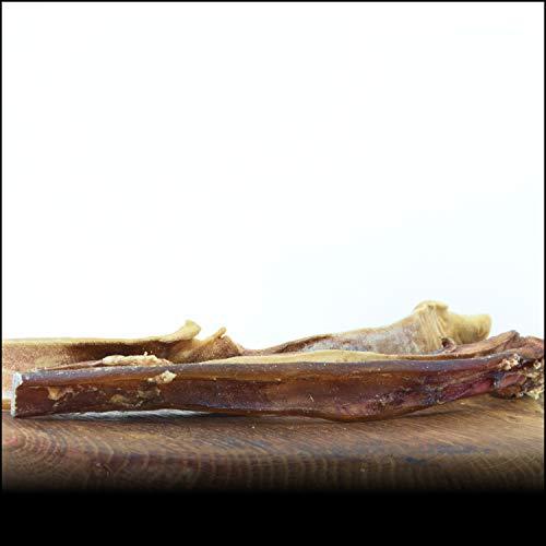George & Bobs Rinderkopfhautstangen 2.Wahl - 1000g | Beste Stangen 30cm | Keine Zusatzstoffe | Aussortiert Aber trotzdem EIN super Kausnack für Hunde