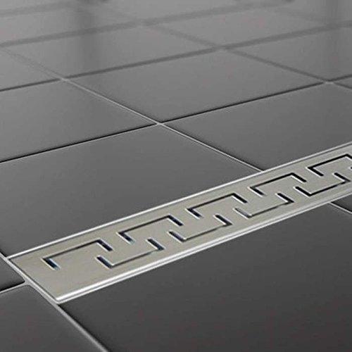 MagicSAN Edelstahl Duschrinne Bodenablauf Duschablauf Ablaufrinne 50-120 cm Typ III Griechisch (Länge 700 mm Breite 70 mm)