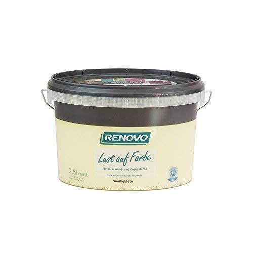Trendfarbe Vanilleblüte 2,5 L Renovo Lust auf Farbe - Wandfarbe Deckenfarbe