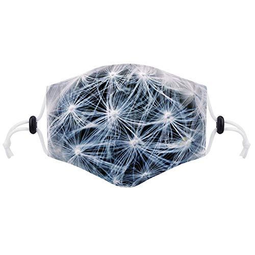 Cheyan Masker Gezicht Respirator Luchtvervuiling Fietsen Mond Maskers Met Twee Filters Voor Volwassen Vrouwen Mannen Paardebloem Zaden Punt Bloem
