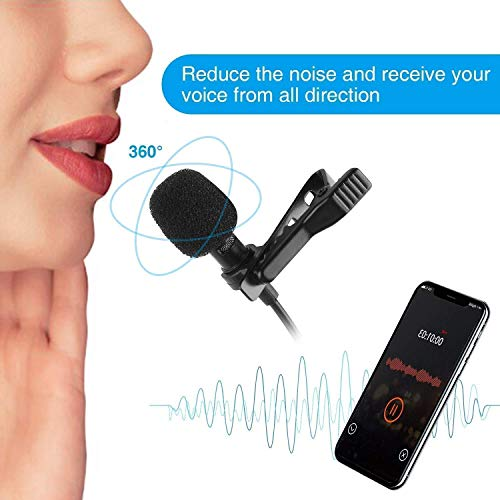 Happysale [Buy 1 *Get 1 *Free] 3.5mm Clip Microphone Collar Mic for YouTube and Recording Mike for Voice Recording, Android Smartphones, Camera, for Online Classes (Pack 2)