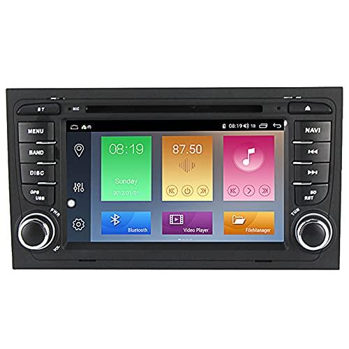 XNJHMS Navegador GPS para Coche Android 10 para Audi A4 S4 RS4 Estéreo para automóvil Audio Pantalla táctil IPS de 7 Pulgadas Unidad Principal de Doble DIN Soporte DSP Espejo de Pantalla WiFi SWC
