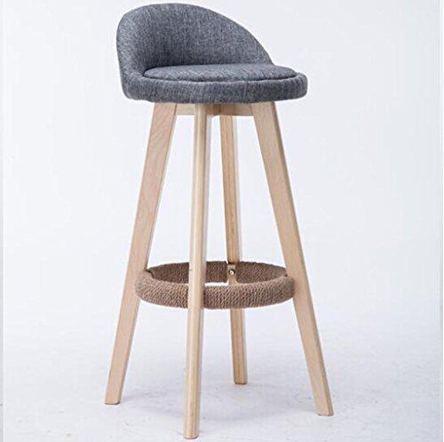 Tabouret en bois Chaise de bar en bois massif/créatif style européen bar chaise chaise de réception mode tabouret de bar tabouret simple tabouret en bois d'origine (Couleur : #2)