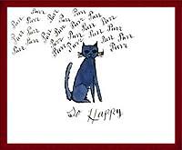 ポスター アンディ ウォーホル So Happy、 ca. 1958 額装品 ウッドベーシックフレーム(レッド)