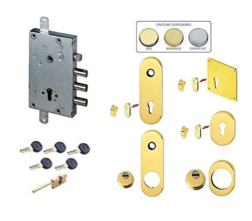 Kit de cerradura completa para puerta blindada de cilindro europeo Kaba Matrix para sierra de 3 pines