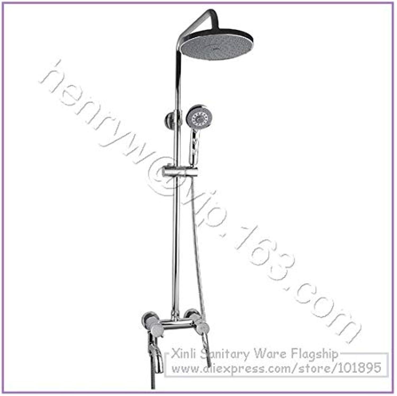 Retail- Luxury High Quality Brass Head Rain Shower Set, Overhead Shower Set, Wall Mounted, Free Shipping L15187,Light grau