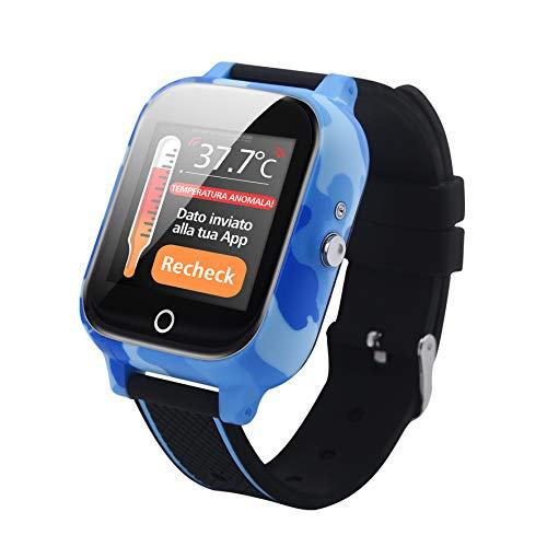 smarttrackerkids 20T, Smartwatch per bambini, perimetro di sicurezza, GPS, tasto SOS, controllo temperatura, chat We Talke, app in italiano