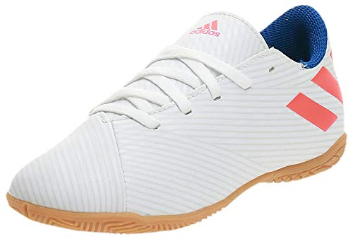 Adidas Nemeziz Messi 19.4 In J, Botas de fútbol Niño, Blanc Rouge Solaire Bleu Marine, 35 EU