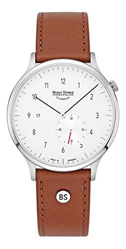 Bruno Söhnle Herren Analog Quarz Uhr mit Leder-Kalbsleder Armband 17-13212-261