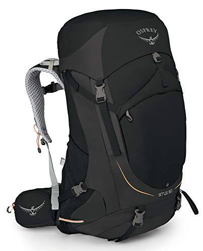 Osprey Sirrus 50 Women's Ventilated Hiking Pack - Black (WS/WM)