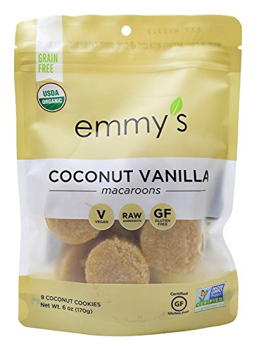 Emmy's Coconut Vanilla Macaroons, 6 Ounce (Pack of 2)