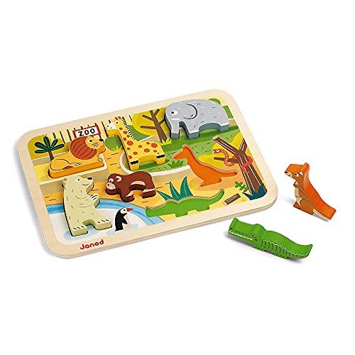Janod - Chunky Puzzles en bois 7 pièces