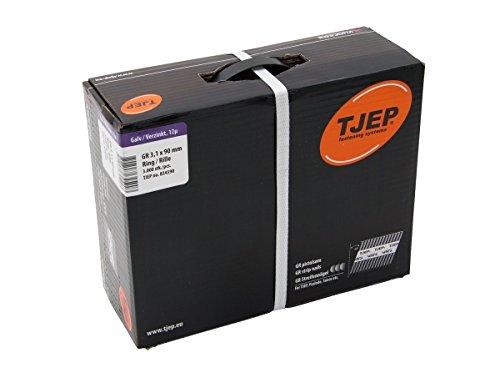 TJEP GR 31/90 D-Kopf Streifennägel Rille Verzinkt, 3,1x90mm Jumbobox