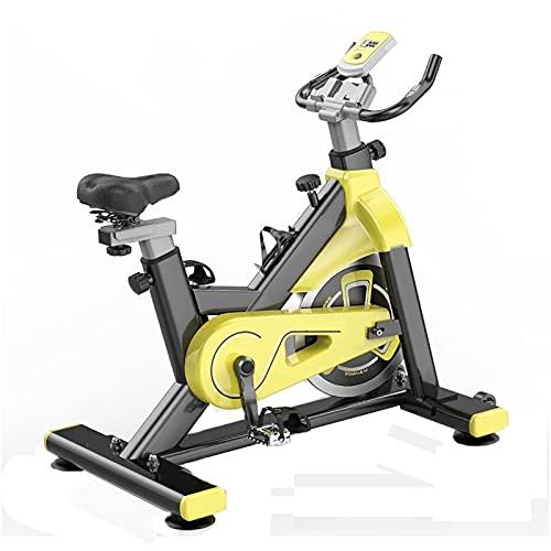 BETTER ANGEL LE Bicicleta Estáticas para Fitness, Bici De Spinning, Calidad Profesional, Rueda De Inercia Bidireccional,Transmisión por Cadena Fija, Asiento Ajustable, Pantalla LCD