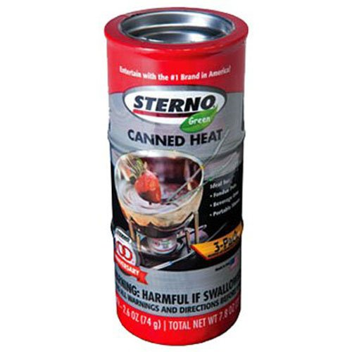 Sterno 20602 Canned Fuel, 2.6 Ounce (Pack of 3)