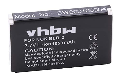 vhbw Li-Ion Akku 1050mAh (3.7V) für Aosta, Belkin, BenQ, Holux, Incutex, Metrologic, Mustek, Nokia wie 46-00311, BA-80S700, BLB-2.