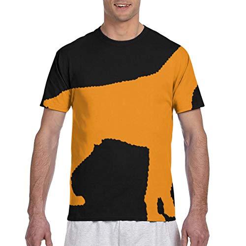 Zhgrong Männer T-Shirts Boxer Hund Kurzarm T-Shirts Rundhals Athletic Tees Tops