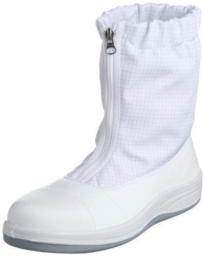 [ミドリ安全] 静電安全靴 クリーンルーム向け トゥキャップ付き ブーツタイプ SCR1200 フルCAP ハーフ メンズ ホワイト 27.5