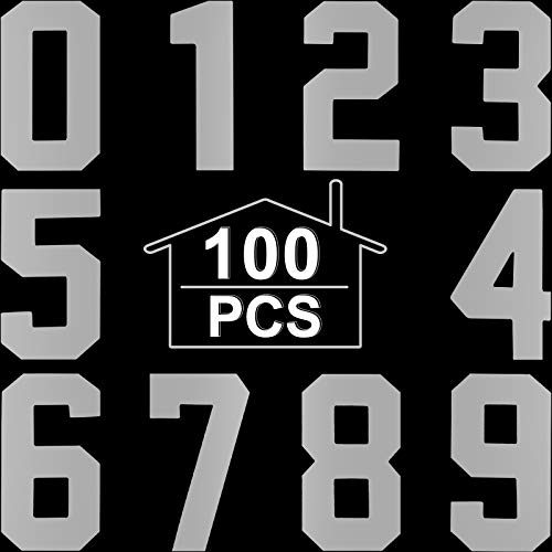 2 Inch Reflective Mailbox numbers Sticker 0-9 Sticker Decal Self Adhesive for Signs Window Door Cars Trucks Home Business Address Number (10 Sheets)