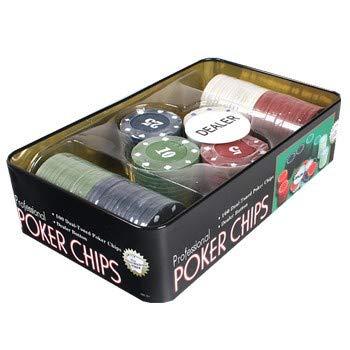 Juego De Póquer Chips 21 Punto Conjunto con Fichas De Póquer De 200Pcs, Tela De Mesa Y Caja De Metal Ciego Portátil para Poker Ajedrez Entretenimiento Junta De Juegos De Junta Cena,Type 1