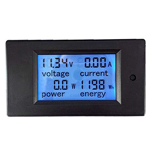Medidor de CC digital, 6.5~100V 20A LCD Voltaje Corriente Energía Medidor de energía Probador Multímetro Amperímetro Voltímetro para interiores