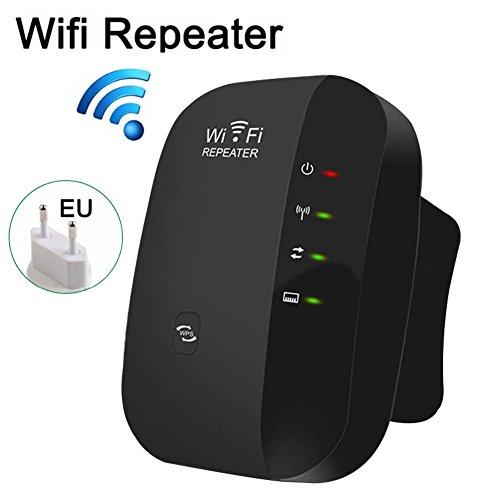 Miss de a 300m wifi Range Extender, inalámbrica WiFi Repetidor Amplificador de señal WiFi Rango extensor señal Booster, Negro
