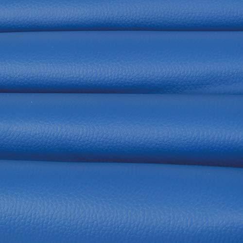 Bestlivings Kunstleder in Blau als laufende Meterware, Bezugs Polsterstoff viele Farben in Lederoptik zum Nähen und Beziehen 145cm Breite