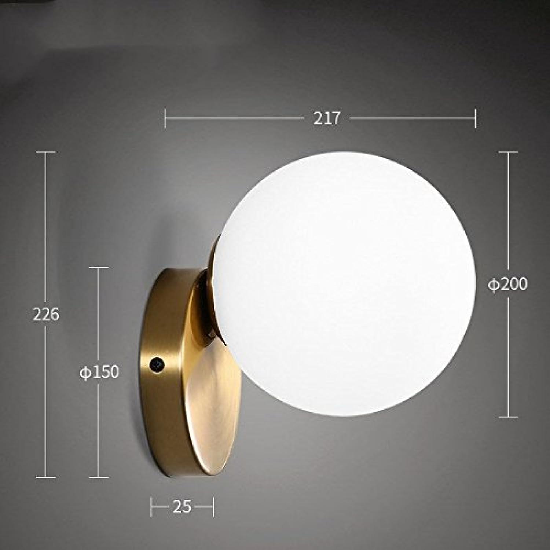 StiefelU LED Wandleuchte nach oben und unten Wandleuchten Bügeleisen LED's Kinder bett zimmer Spiegel vor Wohnzimmer Restaurant Glaskugel Wandleuchte optische Quelle, 1