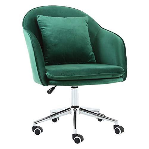 Jieer-C Ergonomische stoel, stoelen, kantoor, thuis, kantoor, draaibaar, computer, ontvangst, velours, modern, elastisch, gevoerd, ergonomisch, verstelbaar, 45 x 4 Groen