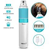HIRALIY Dog Nail Grinder Upgraded Electric Pet Paw Clipper Trimmer Quiet with 20h