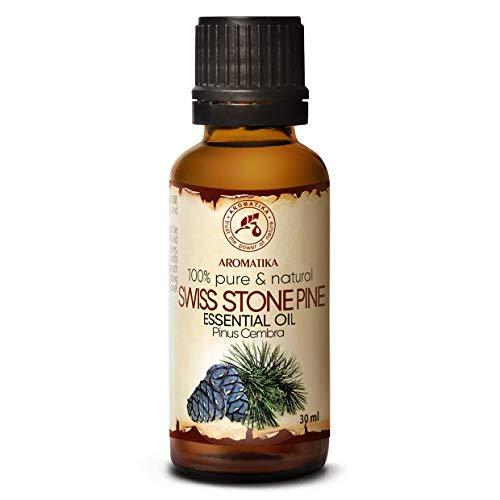 Aceite Esencial de Pino Suizo 30ml - Pinus Cembra - Suiza - 100% Natural & Puro - Mejor para Belleza - Salud - Cabello - Cara - Cuerpo - Swiss Stone Pine Essential Oil