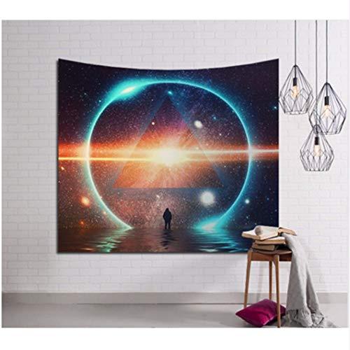 Djkaa Strandmat om op te hangen, 3D Galaxy, wandtapijt, hippie tapijt, retro, Home Yoga 150x130cm
