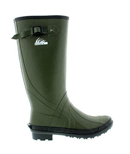 Itasca Men's Waterproof Swampwalker Classic Chore Removable Liner, Size 13 Rain Boot, Dark Green, 13.0 D US