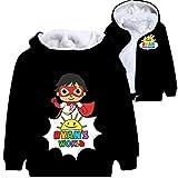 Ryan Toys Review Pullover Soft Coats Airy Hoodies del Ocio Outwear básico Chaquetas con Estilo Sudadera Pullover Diluyente for niños y niñas niños y niñas (Color : B02, Size : 110)