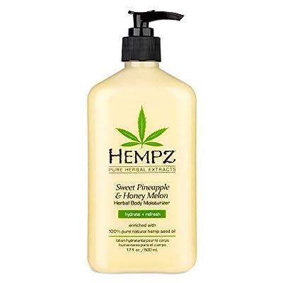Hempz Sweet Pineapple & Honey Melon Moisturizing Skin Lotion, Natural Hemp Seed Herbal Body Moisturizer with Jojoba, Natural Extracts, Vitamin A and E, 17 oz from Hempz