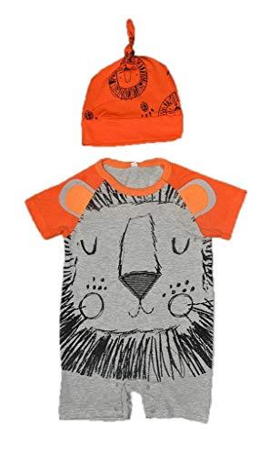 YiyiLai YiyiLai Sommer Herbst In-Outdoor Mit Mütze Kind Neugeborene Strampler Bodysuit Playsuit Kleidung Set Outfit Babykleidung Kurzarm 70 Bilder # G