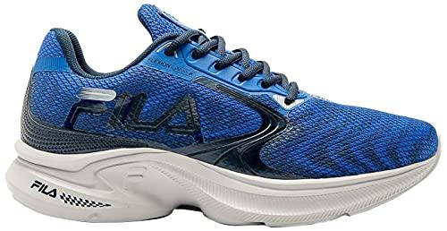 Tênis Fila Racer Flexion, Masculino, Azul/Marinho/Prata, 37