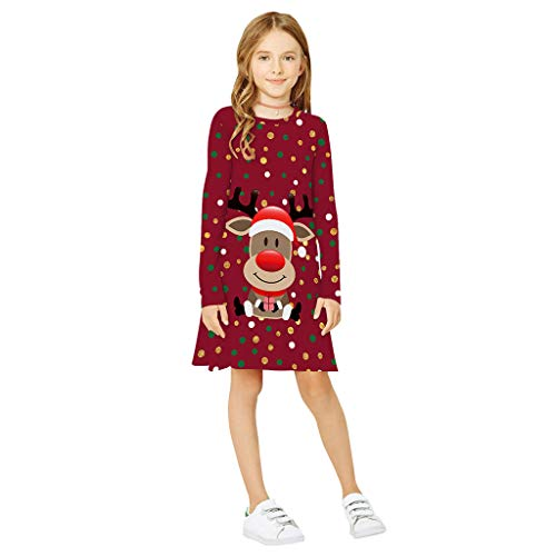 Baby Mädchen Weihnachten Party Kleider Prinzessin Tutu Rock Weihnachtsmann Kleid